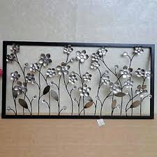 Metal Flowers Wall Decor E Home Art Silver Flower For