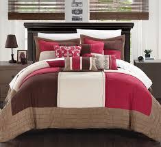 Bella Lux Bedding by Chic Home Lazio 7 Piece Soft Microsuede Patchwork Comforter Set