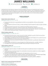 Teaching Resume Examples Kindergarten Teacher Sample Resumelift