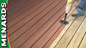 refinish a deck how to menards youtube