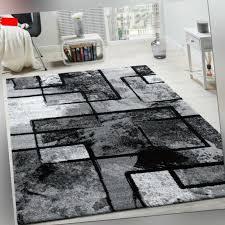 wohnraum teppiche designer teppich kurzflor in grün schwarz