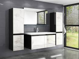 homeline badmöbel set cobra 60 badmöbel set 60 cm schwarz weiss marmor optik hochglanz badezimmermöbel bad 6 teilg 6 tlg kaufen otto