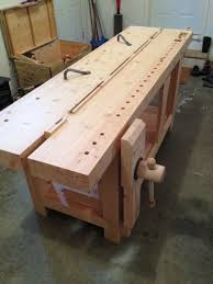 Wooden Bench Vise Plans by 419 Best Workbench Designs Images On Pinterest Woodwork Work