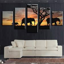 aliexpress com buy 5 piece elephants walking modern home wall
