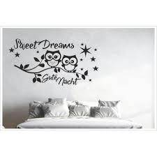 aufkleber schlafzimmer zweig ast uhu eule sweet dreams gute nacht wandaufkleber wandtattoo der dekor aufkleber shop
