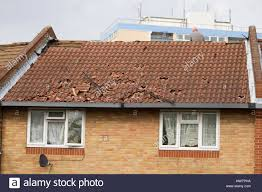 forest gate on roof throwing roof tiles onto the