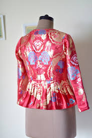 hand made eclectic brocade jacket for women online india luxury