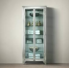 Vintage Cabinet With Glass Door Design In Style Laboratory Image Metal