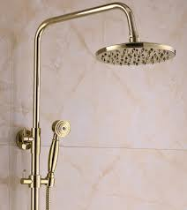 Polished Brass Bathroom Faucet 8 by Rainfall Gold Brass Shower Faucet Set 8 Inch Shower Head