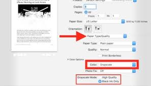 How To Print In Black White On Mac