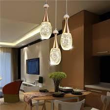 led pendelleuchte kristall tropfen design für wohnzimmer