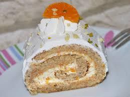 mandarinenquark biskuitrolle