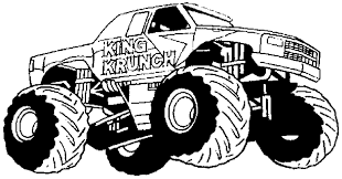 100 Monster Truck Drawing King Krunch Jam Coloring Pages Kids Jam