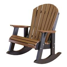 little cottage amish polywood adirondack rocker