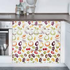 klebefolie küche set 3 handgezeichnete früchte muster landhaus dekofolie
