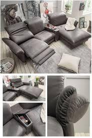 hjort knudsen sofa mit relaxfunktion in dunkelbraun