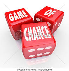 Game Of Chance Three Red Dice Risk And Danger Stock Illustration