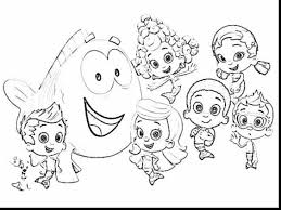 Astonishing Printable Molly Bubble Guppies Coloring Pages Cartoon With