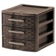sterilite small 3 drawer countertop storage espresso weave target