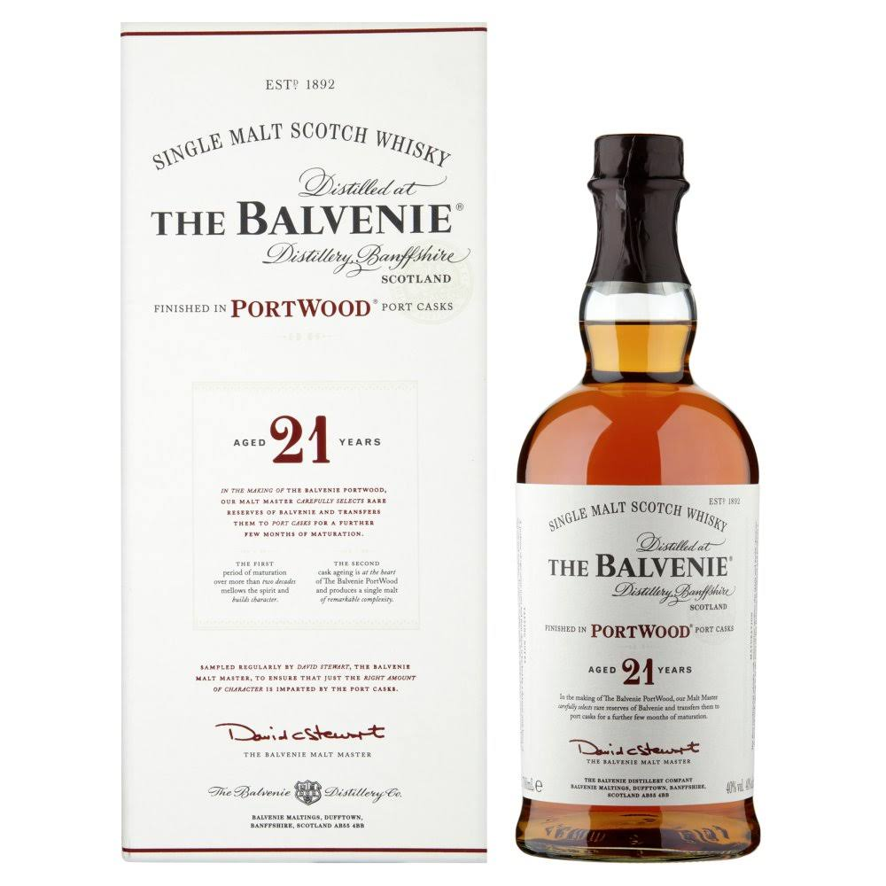 The Balvenie PortWoodSingle Malt Scotch Whisky
