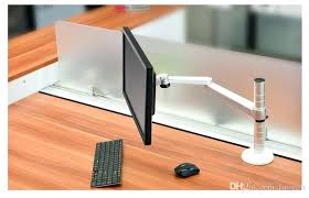 desk stand up desk converter for dual monitors sit stand desk