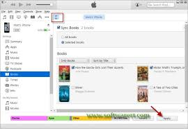 Sync Books from puter to iPhone through iTunes