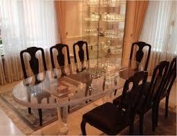 luxus esstisch oval acryl plexi glas tisch esszimmertisch rund bi