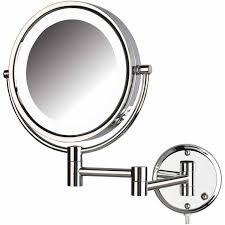 jerdon hl88cl 8 5 led lighted wall mount makeup mirror with 8x