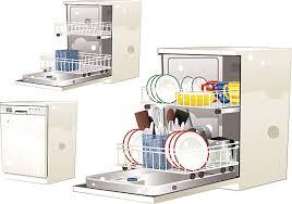 Modern Electric Dishwasher Vector Art Illustration