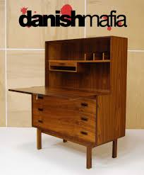 Small Secretary Desk With File Drawer by Mid Century Danish Modern Rosewood Secretary Desk Dresser Credenza