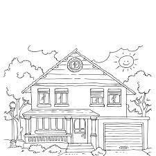 coloriage maison les beaux dessins de autres à imprimer et