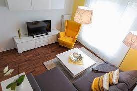 wohnzimmer gelb grau die senftenberger