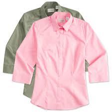 custom van heusen ladies 3 4 sleeve baby twill dress shirt