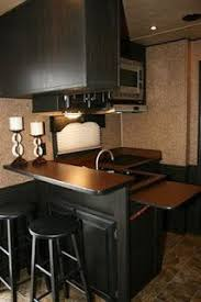 Remodeled RV Horse Trailer Including A Leather Theme Throughout