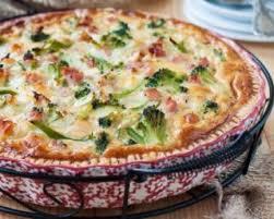 recette légère quiche sans pâte allégée jambon et brocolis au chèvre