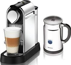 Nespresso Citiz C111 Espresso Maker With Milk Frother Aeroccino In Chrome