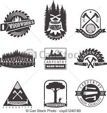 Sawmill And Woodwork Vintage Logos Labels