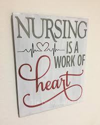 nursing sign gift for nurse handmade gift office decor nurse