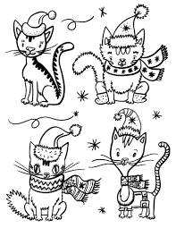 Printable Christmas Cat Coloring Page Free PDF Download At Coloringcafe