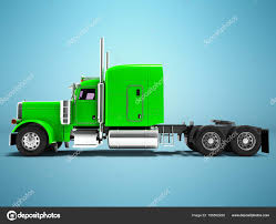 100 Truck Tractor Modern Truck Tractor For Cargo Three Axle Without Trailer Green