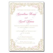 Classy Vintage Wedding Day Invitations
