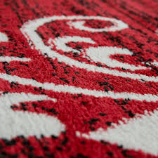 details zu teppich wohnzimmer modern kurzflor mehrfarbig muster floral ornament rot