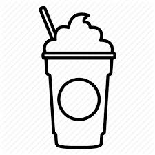 Clip Art Free Stock Shop Png Transparent Images Coffee Frappe Frappuccino Black And White