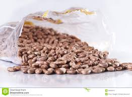 Bag Of Beans Stock Image Plastic Packet Bean
