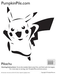 Pikachu Halloween Stencil by Pumpkin Carving Made Super Easy By These Printable Patterns