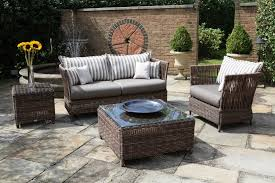 Semi Circle Outdoor Patio Furniture by Winsome Water Fall In Outdoor Garden Beside Patio Furniture For