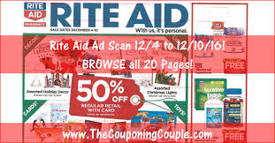 Rite Aid Christmas Trees by Rite Aid Ad Scan For 12 4 To 12 10 16 Browse All 20 Pages