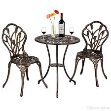2019 European Style Cast Aluminum Outdoor Tulip Bistro Set Of Table And  Chairs Bronze Garden Furniture From Xhjhome, $112.57 | DHgate.Com Outdoor Chairs Set Of 2 Black Cast Alinum Patio Ding Swivel Arm Chair New Elisabeth Cast Alinum Outdoor Patio 9pc Set 8ding Details About Oakland Living Victoria Aged Marumi In 2019 Armchair Cologne Set Gold Palm Tree Outdoor Chairs Theradmmycom Allinum Fniture A Guide Alinium Rst Brands Astoria Club With Lawn Garden Stools Bar Modway