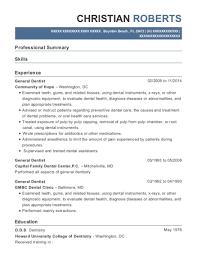 View Resume General Dentist