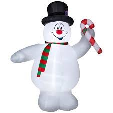 Warner Brothers 899ft Lighted Snowman Christmas Inflatable At